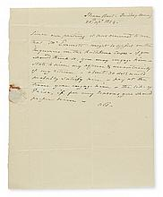 BURR, AARON. Autograph Letter Signed,