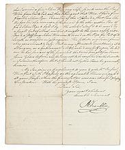 FRANKLIN, BENJAMIN. Autograph Letter Signed,
