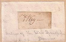 KEY, FRANCIS SCOTT. Clipped Signature,