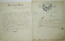 LAFAYETTE, GILBERT DU MOTIER; MARQUIS DE. Two Letters Signed,
