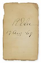 LEE, ROBERT E. Date and Signature,