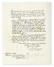 RODGERS, JOHN. Letter Signed,