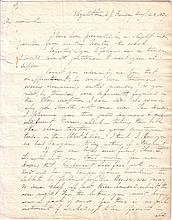 SCOTT, WINFIELD. Autograph Letter Signed, to Joseph Blunt,