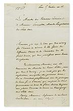 TALLEYRAND-PÉRIGORD, CHARLES MAURICE DE. Letter Signed,