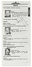 ARMSTRONG, NEIL A. Signature, on an interior page of a program for the 1981 convention of the American Association of School Administra