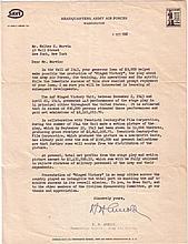 ARNOLD, HENRY HARLEY. Typed Letter Signed,