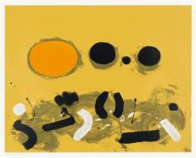 ADOLPH GOTTLIEB Orange Oval.