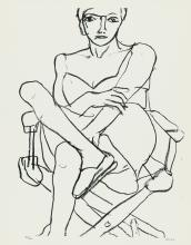 RICHARD DIEBENKORN Seated Woman in Chemise.