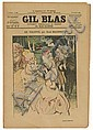VARIOUS ARTISTS. GIL BLAS. Group of 198 loose issues and 60 issues bound in 2 volumes. 1891-96. Each approximately 15x11 inches, 40x28