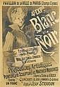 JULES CHÉRET (1836-1932). 4e EXPON. / BLANC ET NOIR. 1890. 48x33 inches, 124x84 cm. Chaix, Paris.