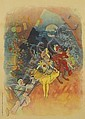 JULES CHÉRET (1836-1932). [MUSÉE GRÉVIN / FANTOCHES DE JOHN HEWELT.] 1900. 49x34 inches, 124x88 cm. Chaix, Paris.