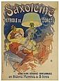JULES CHÉRET (1836-1932). SAXOLÉINE. 1900. 48x34 inches, 124x89 cm. Chaix, Paris.