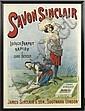 ALFRED CHOUBRAC (1853-1902). SAVON SINCLAIR. Circa 1895. 39x29 inches, 99x73 cm. Bourgerie & Cie., Paris.
