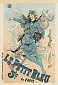 ALFRED CHOUBRAC (1853-1902). LE PETIT BLEU. 1898. 23x16 inches, 59x40 cm. Bourgerie & Cie., Paris.