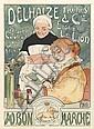 HAMNER (HERMAN RICHIR, 1866-1942). DELHAIZE FRÈRES & CIE. / AU BON MARCHÉ. 1896. 42x31 inches, 108x80 cm. Goffart, Brussels.