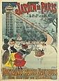 GEORGES MEUNIER (1869-1942). JARDIN DE PARIS / MONTAGNES RUSSES NAUTIQUES. 1895. 48x34 inches, 124x87 cm. Chaix, Paris., Georges Meunier, Click for value