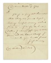 "JOHN SULLIVAN. Brief Autograph Letter Signed, ""JnoSullivan,"" to Captain Nathan Nichols: ""Please to pay Mr. Samue..."