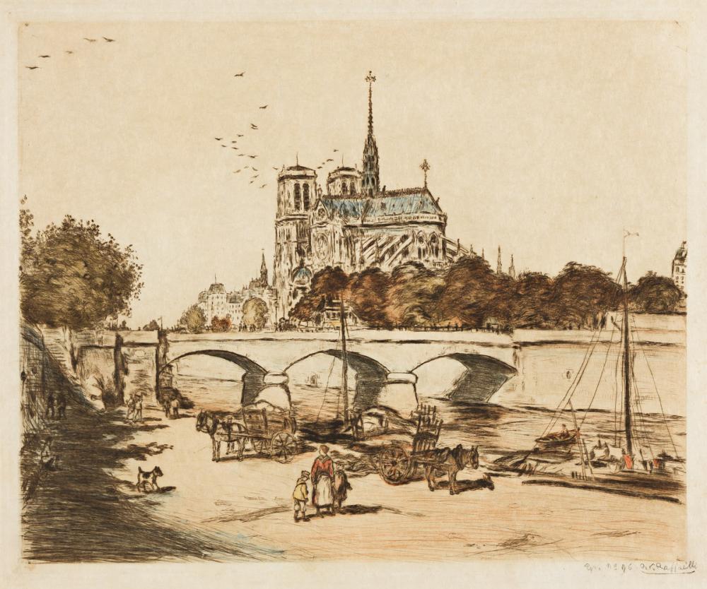 JEAN-FRANÇOIS RAFFAËLLI Notre-Dame de Paris.