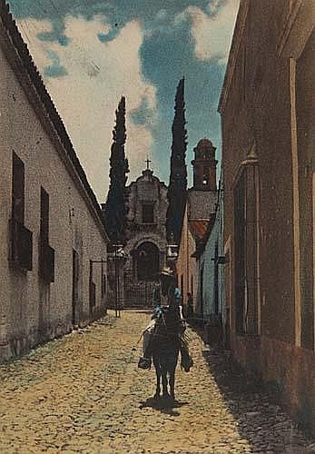 BREHME, HUGO (1882-1954) Group of 6 hand-tinted photographs of Mexico.