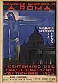 BUIGAS (DATES UNKNOWN). PEREGRINACION TRADICIONALISTA / A ROMA / CENTENARIO DE LA REDENCION. 1933. 43x30 inches, 109x76 cm. M. Blasi, B