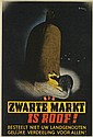 PATRICK COKAYNE KEELY (?-1970). ZWARTE MARKT IS ROOF! 1944. 29x19 inches, 74x50 cm. James Haworth & Brother, Ltd., London., Patrick Cokayne Keely, Click for value