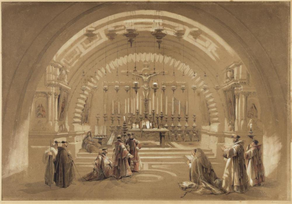 DAVID ROBERTS (Edinburgh 1796-1864 London) Interior of the Holy Sepulchre, Jerusalem.