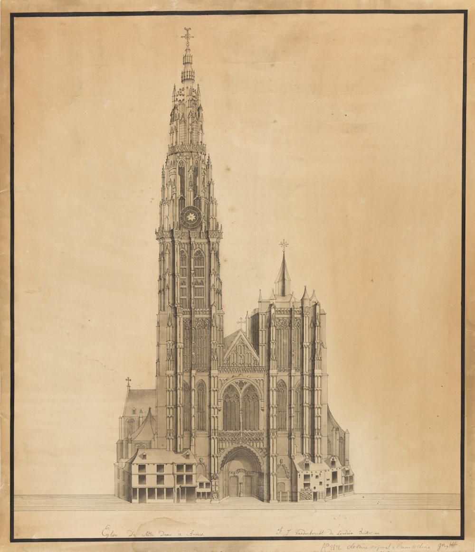 F.J. VANDERBORCHT (Belgium, early 19th Century) Notre Dame, Anvers.