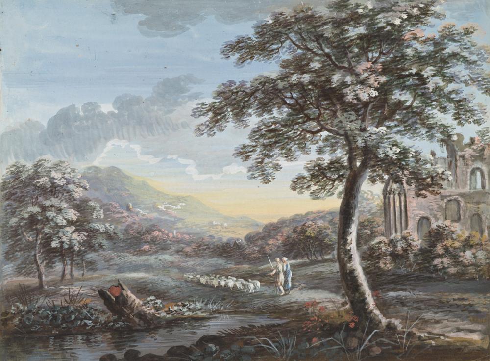 HENRI-DÉSIRÉ VAN BLARENBERGHE (Lille 1734-1812 Paris) Two classical landscapes.