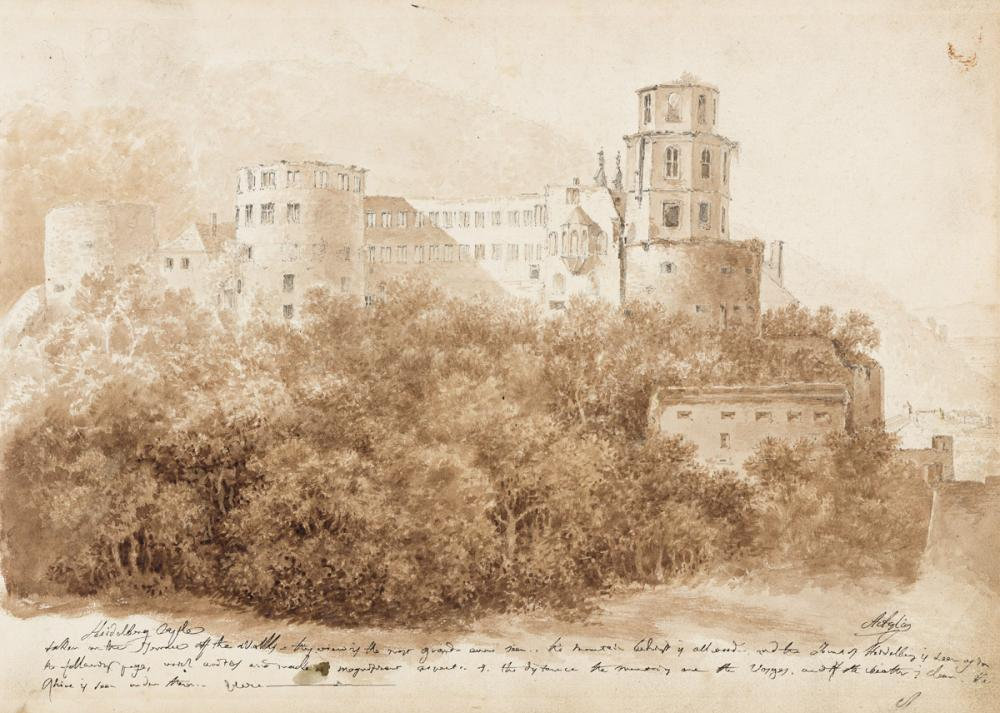 AGOSTINO AGLIO (Cremona 1777-1857 London) View of Meissen from the Elbe River * View of Heidelberg Castle.
