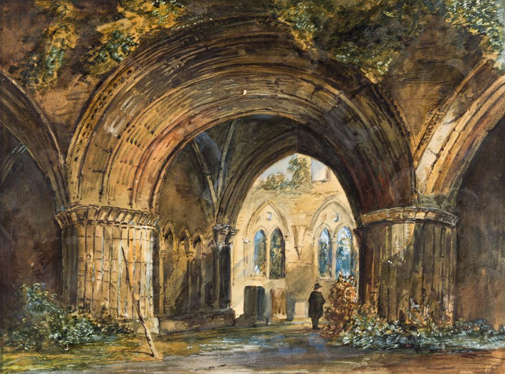 THOMAS ALLOM (London 1804-1872 London) Lancashire, Furness Abbey, Chapter House.