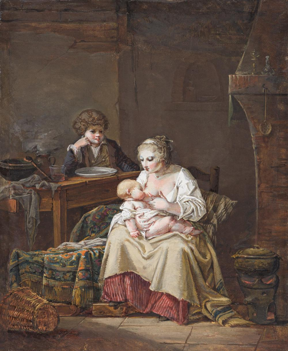 JEAN-BAPTISTE MALLET (Grasse 1759-1835 Paris) The Young Mother.