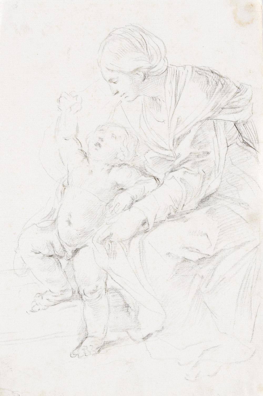 GUIDO RENI (Bologna 1575-1642 Bologna) Virgin and Child.