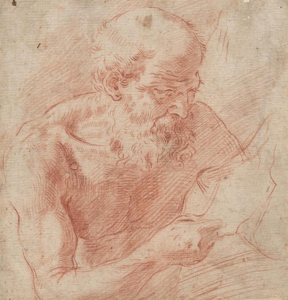 SIMONE CANTARINI (Pesaro 1612-1648 Verona) St. Jerome.