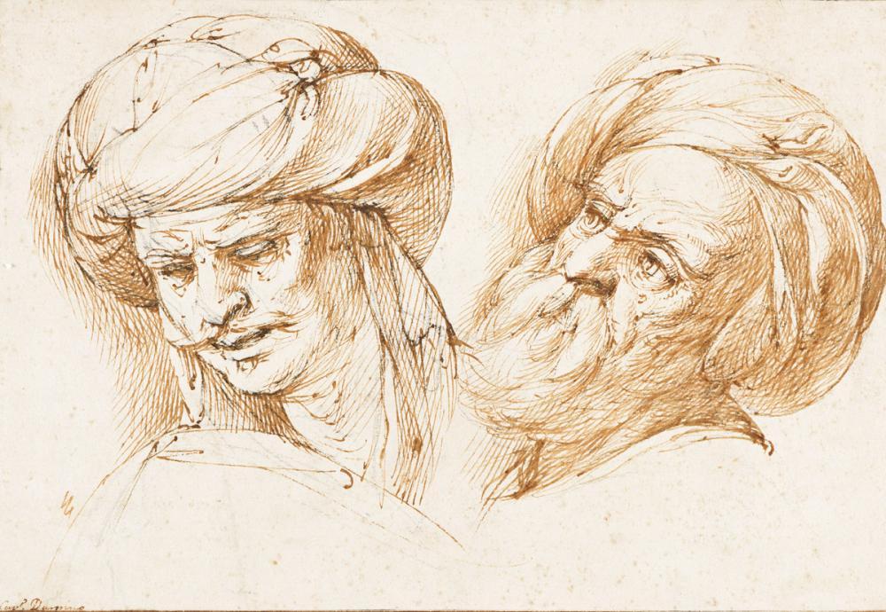 GIUSEPPE CESARI, IL CAVALIERE D'ARPINO (Rome 1568-1640 Rome) Two Oriental Heads.