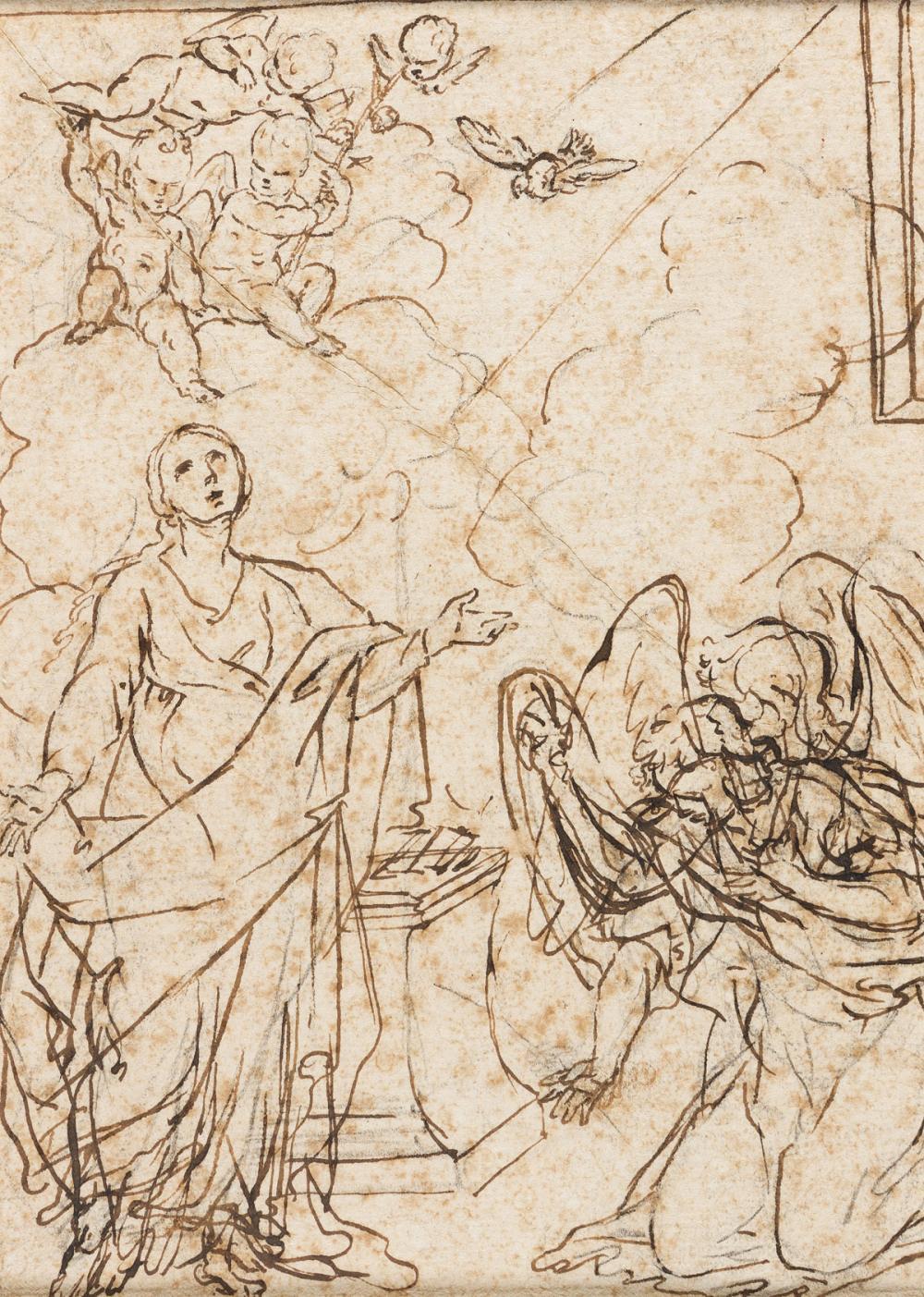 GIACINTO CALANDRUCCI (Palermo 1646-1707 Palermo) The Annunciation.