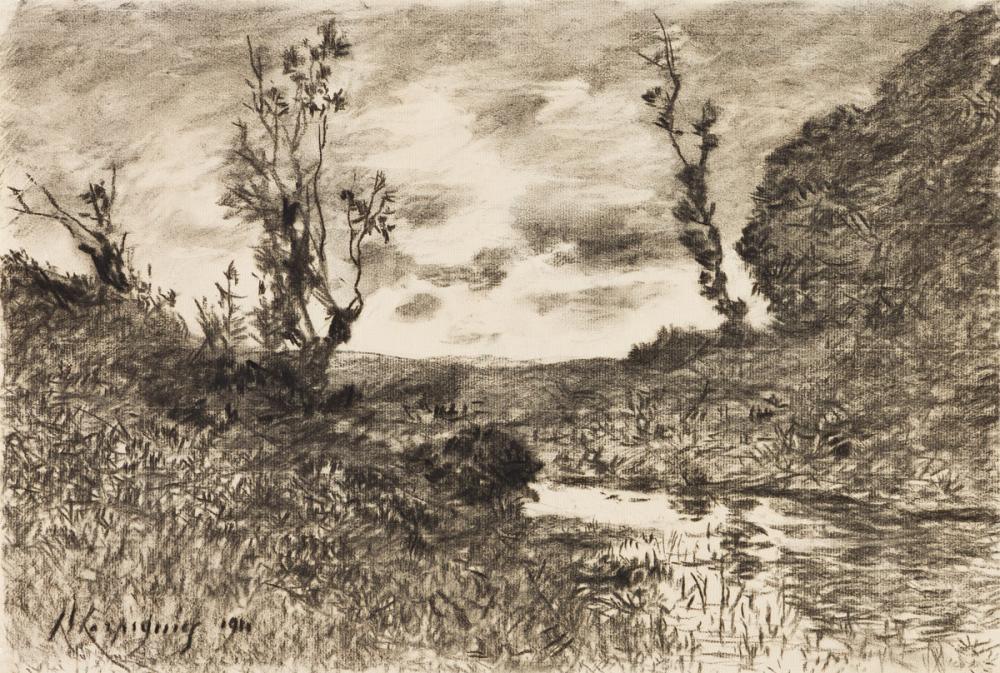 HENRI-JOSEPH HARPIGNIES (Valenciennes 1819-1916 Saint-Privé) A River Landscape.