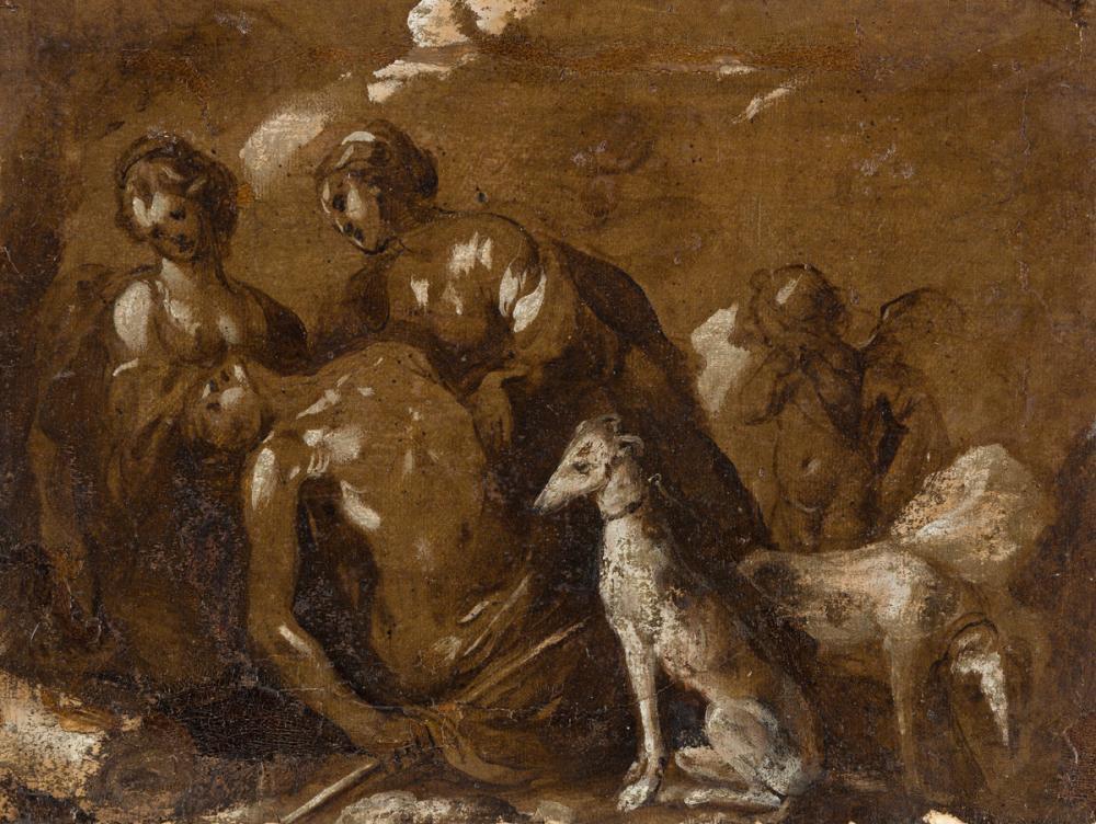 BARTOLOMEO BISCAINO (Genoa 1632-1657 Genoa) The Death of Adonis.