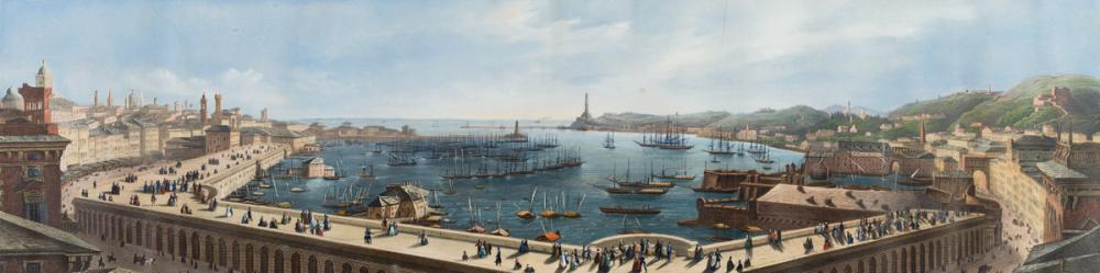 GENOVESE SCHOOL, EARLY 19TH CENTURY A View of the Harbor at Genoa.
