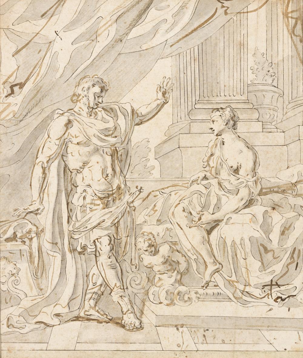 FRANCESCO SOLIMENA (Serino 1657-1747 Naples) The Continence of Scipio.