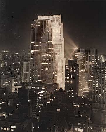 WOOLF, PAUL J. (1899-1985) Midtown Manhattan, RCA Building.