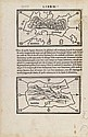 BORDONE, BENEDETTO. Three wood-engraved maps of West Indies islands on a single sheet,