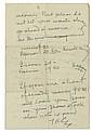 EDISON, THOMAS A. Autograph Letter Signed,