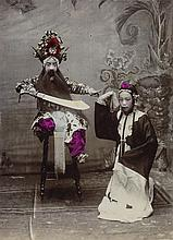 (CHINA) Group of 38 attractive studio portraits of beautifully-attired Chinese men, women and children,