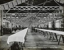 (SAULTE SAINTE MARIE, MICHIGAN) Early 20th-century album with 36 proto-modernist photographs depicting movable dams, flood gates, turbi