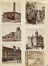 (STEREO VIEWS) Nineteenth-century American scrapbook compiled by the Elwood Brothers, with 147 numbered pages that are filled