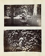 (AMERICAN VICTORIANA) Victorian-era album with more than 100 photographs of an extended family