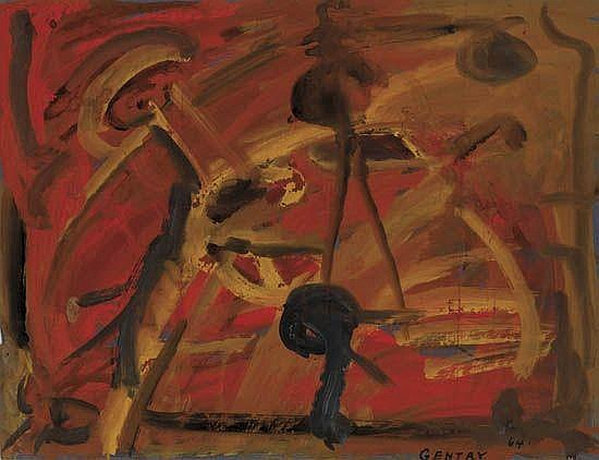 HERBERT GENTRY (1919 - 2003) Untitled (Abstract Composition).