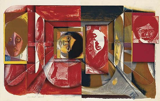 CALVIN BURNETT (1921 - 2007) Double Box.