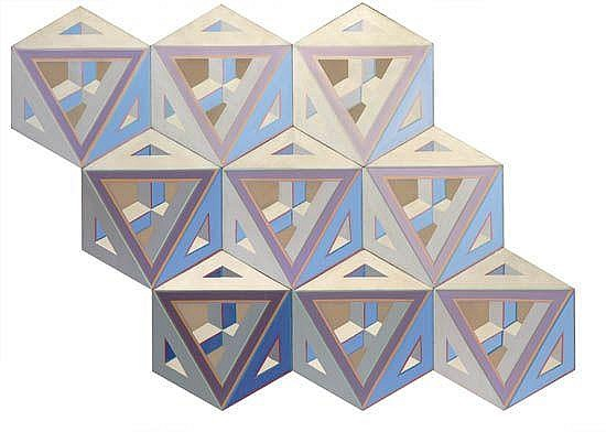 ALVIN D. LOVING, JR. (1935 - 2005) 9 Septehedrons.