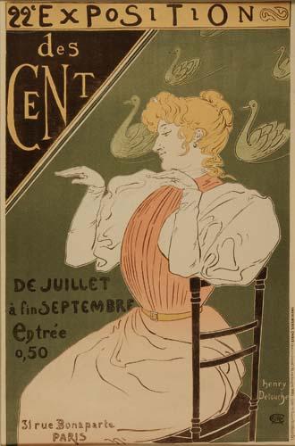 HENRY DETOUCHE (1854-1913) 22 EXPOSITION DES CENT. 1896.